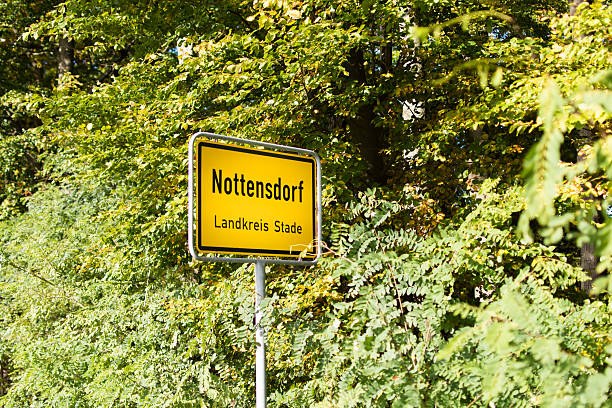 general city entrance sign nottensdorf - place sign stock pictures, royalty-free photos & images