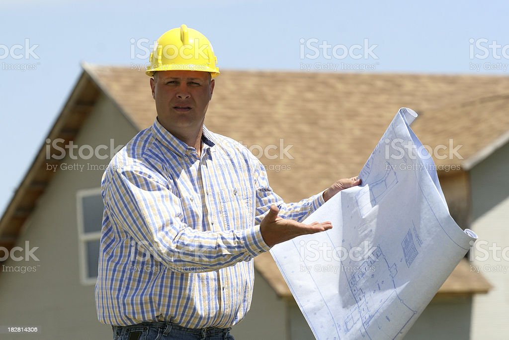 General Contractor Frustration royalty-free stock photo