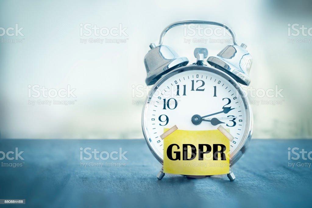 DSGVO Datenschutzgrundverordnung Wecker – Foto