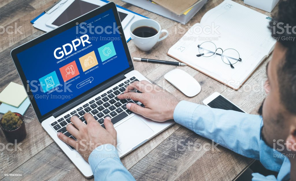 General Data Protection Regulation Concept stock photo