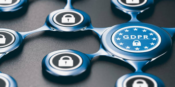 General Data Protection Regulation, EU GDPR Compliance and Conformity stock photo