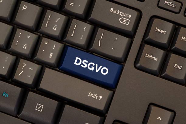 General data protection regulation german mutation: Datenschutz Grundverordnung (DSGVO) stock photo