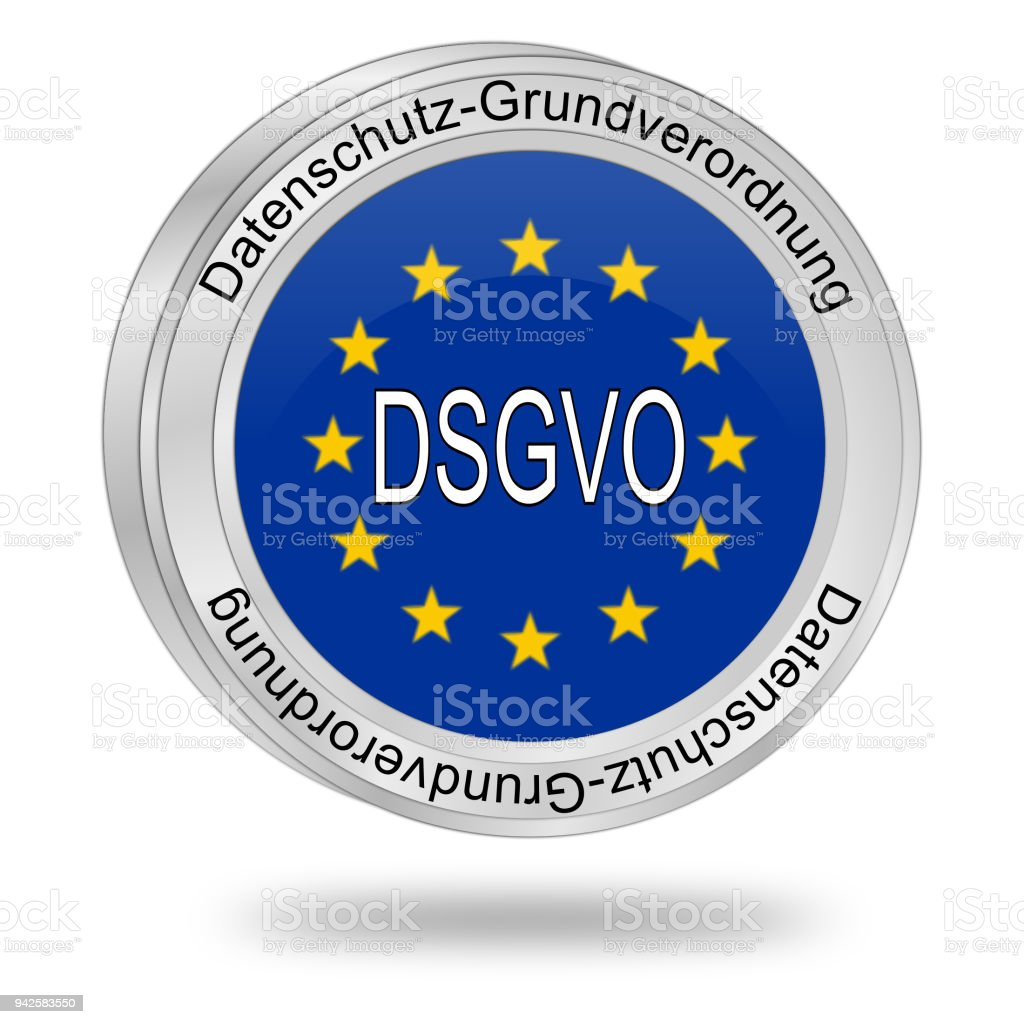 Dsgvo General Data Protection Regulation In German 3d Illustration
