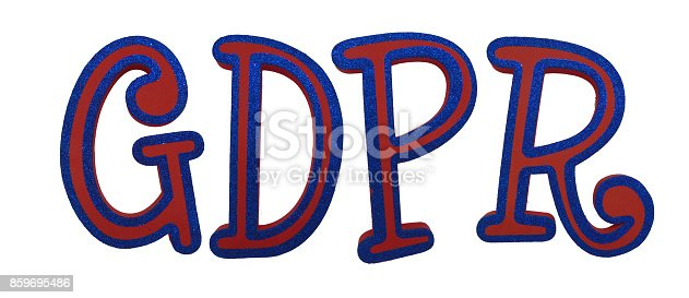 937370192 istock photo General Data Protection Regulation (GDPR) Letters Isolated on White Background (with Clipping Path) 859695486