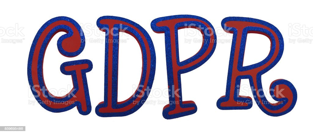 General Data Protection Regulation (GDPR) Letters Isolated on White Background (with Clipping Path) stock photo