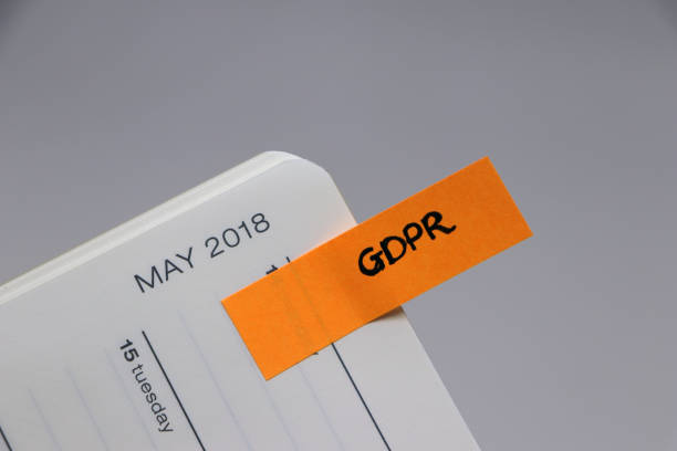 General Data Protection Regulation (GDPR) - May 2018 Diary Reminder stock photo