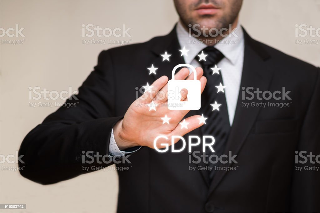 General Data Protection Regulation (GDPR) - Foto stock royalty-free di 2018