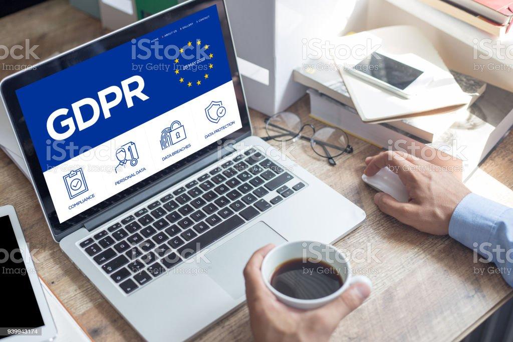 General Data Protection Regulation foto stock royalty-free