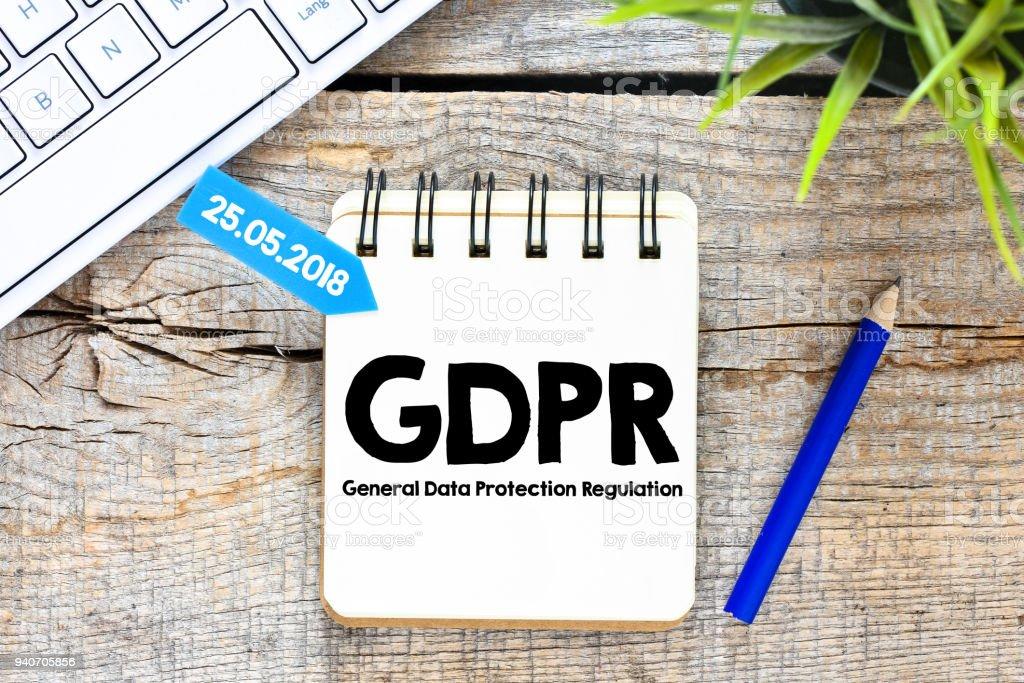 General Data Protection Regulation (GDPR) stock photo