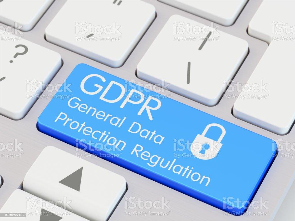 DSGVO Datenschutzgrundverordnung auf Taste auf der Tastatur geschrieben – Foto
