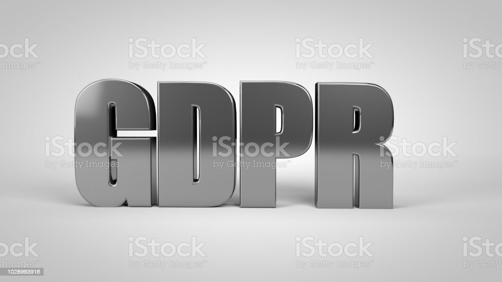 GDPR datos generales Reglamento texto 3d render 3d - foto de stock