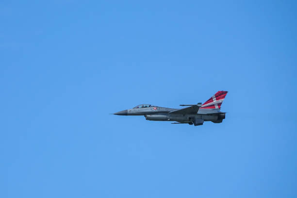 General Dynamics F-16 Fighting Falcon, supersonic multirole fighter aircraft. Air show. Uppsala, Sweden - August 25, 2018: General Dynamics F-16 Fighting Falcon, supersonic multirole fighter aircraft. Air show. f 16 fighting falcon stock pictures, royalty-free photos & images