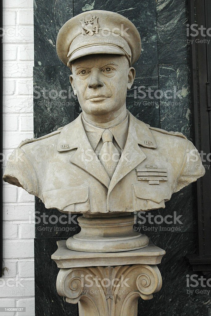 General Eisenhower Bust stock photo
