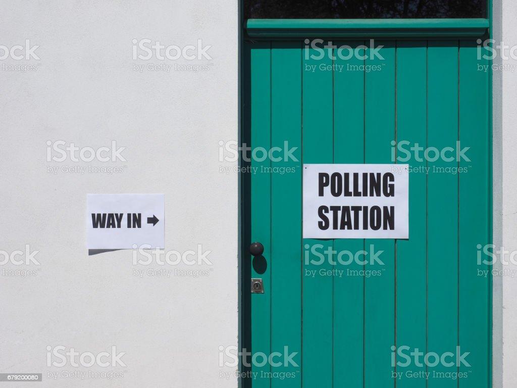 Bureau de vote des élections générales photo libre de droits
