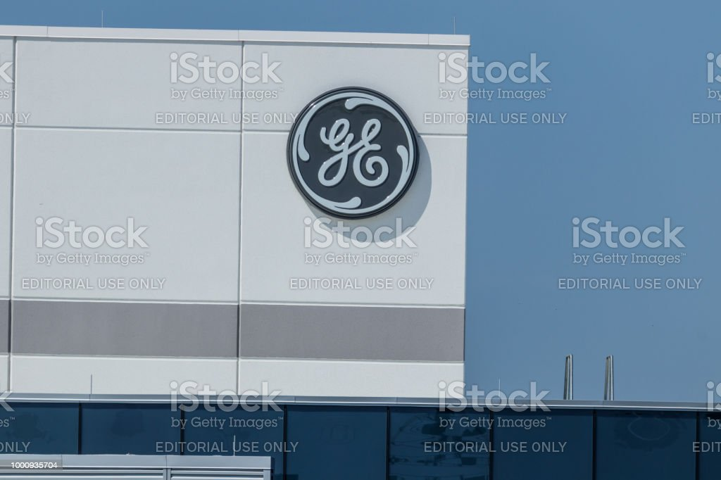 General Electric Aviation Facility. GE Aviation is a Provider of GE90 and LEAP Jet Engines IX stock photo