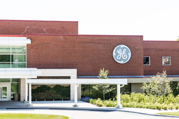 General Electric Aviation Facility. GE Aviation is a Provider of GE90 and LEAP Jet Engines XIII stock photo