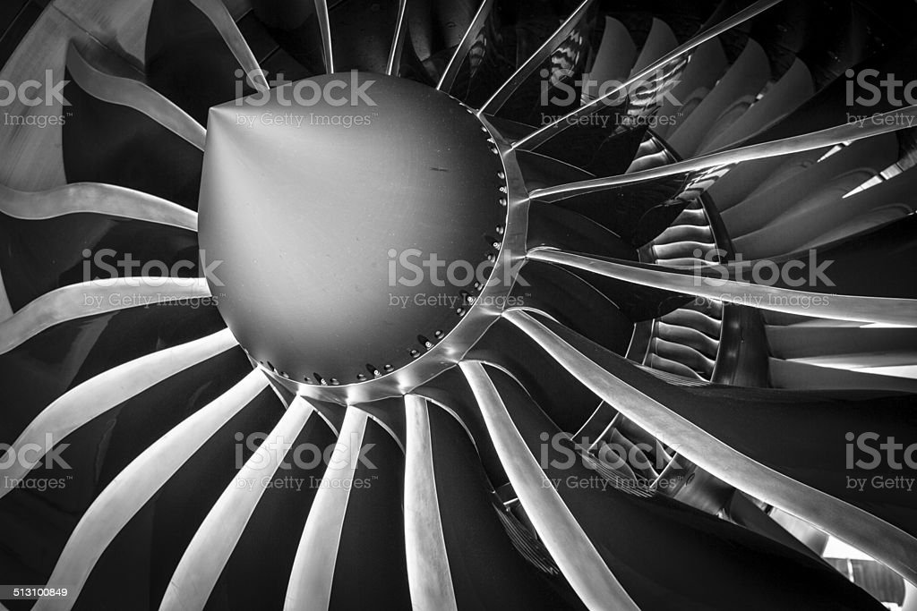 General Electric GEnx Aircraft Jet Engine stock photo