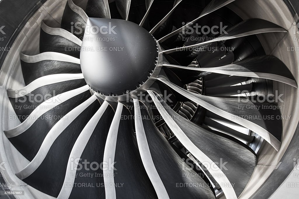 General Electric GEnx Engine stock photo