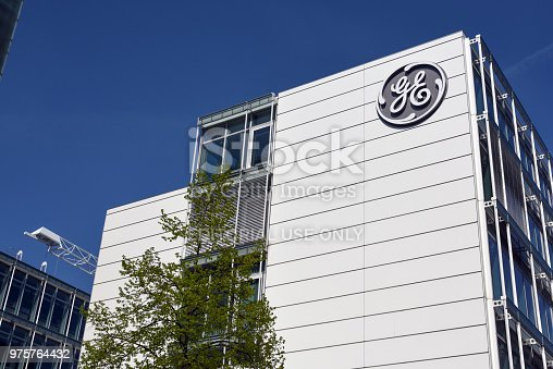 General Electric was founded on April 15, 1892 in Schenectady, New York. GE is active in Switzerland since more than 125 years. The image shows The GE building in Baden (Canton Aargau).