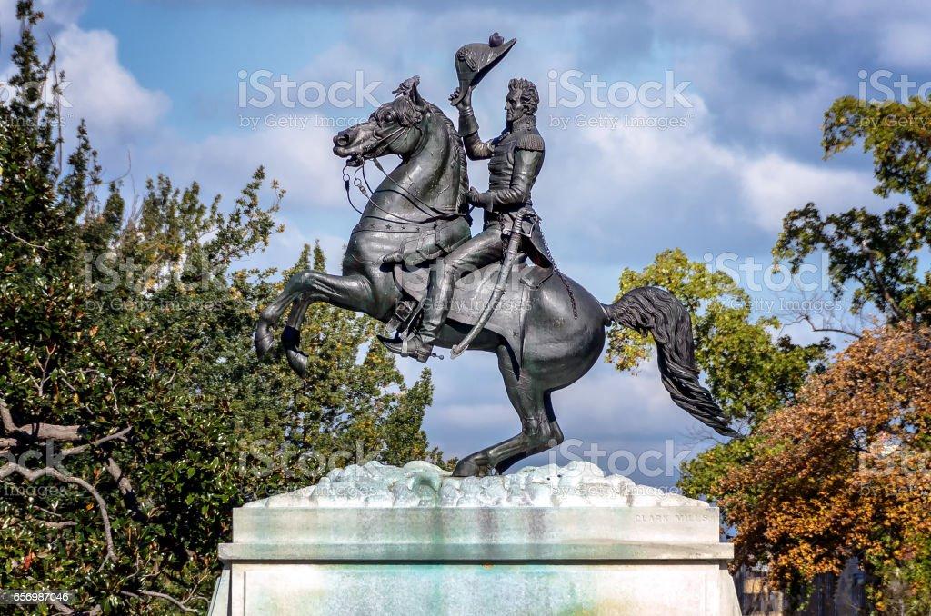 General Jackson Memorial in Washington DC stock photo