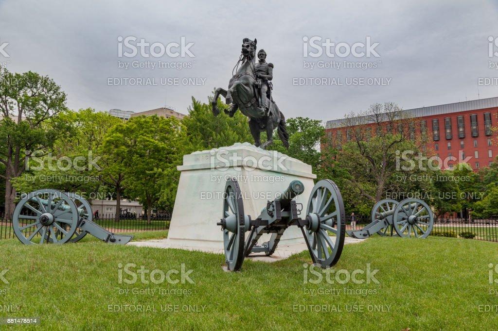 General Jackson Monument Washington DC stock photo