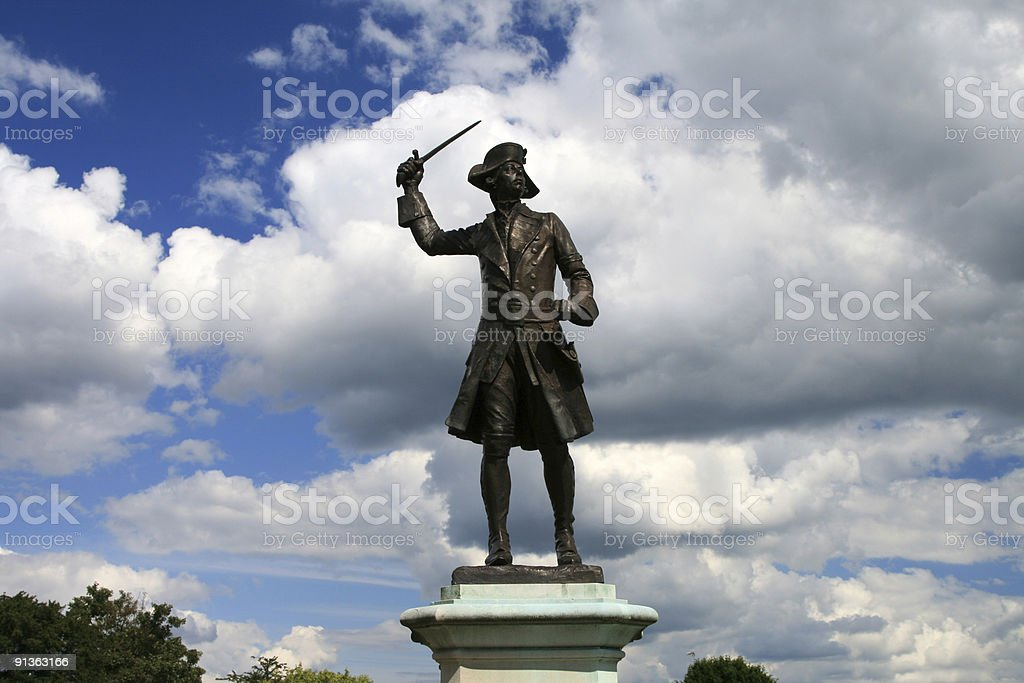 General James Wolfe in Westerham, England royalty-free stock photo