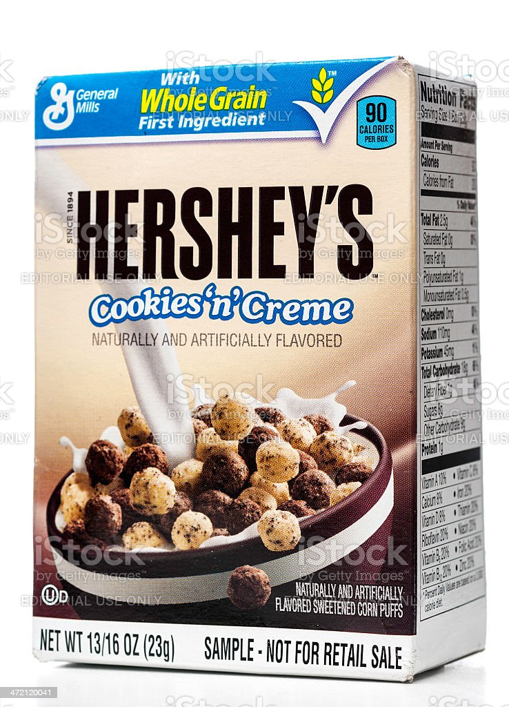 General Mills Hershey's Cookies'n'Creme sample stock photo