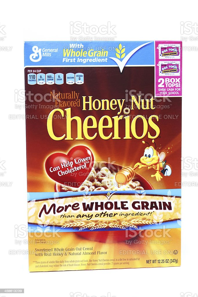 General Mills Honey Nut Cheerios stock photo