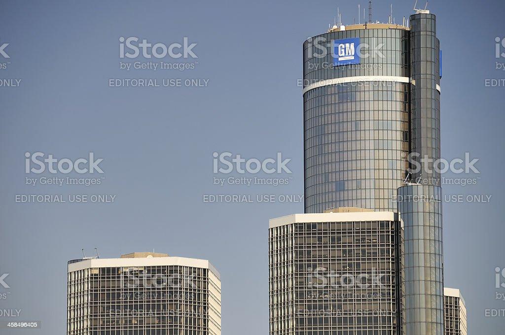 General Motors World Headquarters royalty-free stock photo