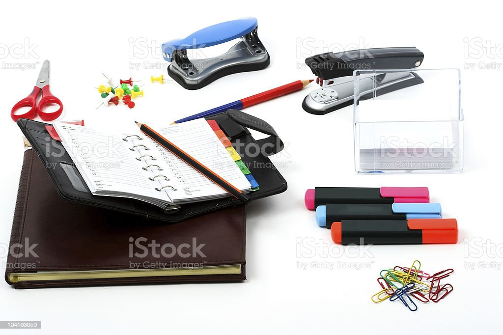 General office stationery items royalty-free stock photo