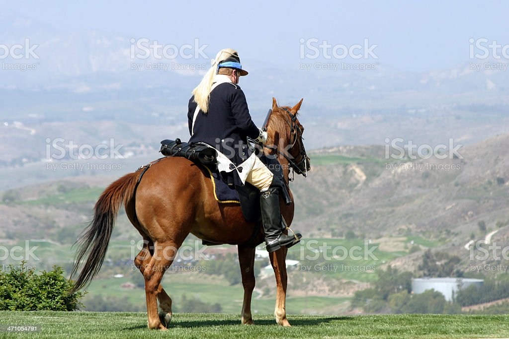 General on horse royalty-free stock photo