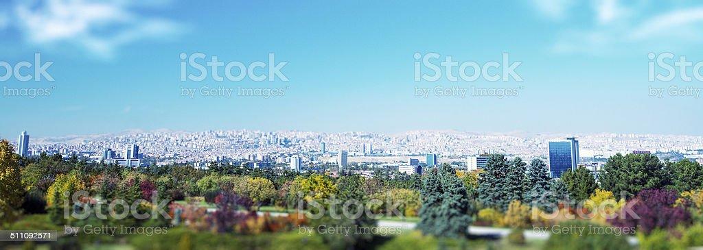 General vista panorámica de Ankara - foto de stock