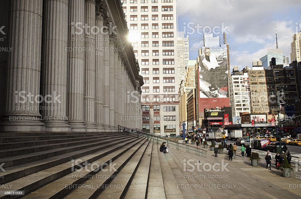 General Post Office in Manhattan NYC royalty-free stock photo