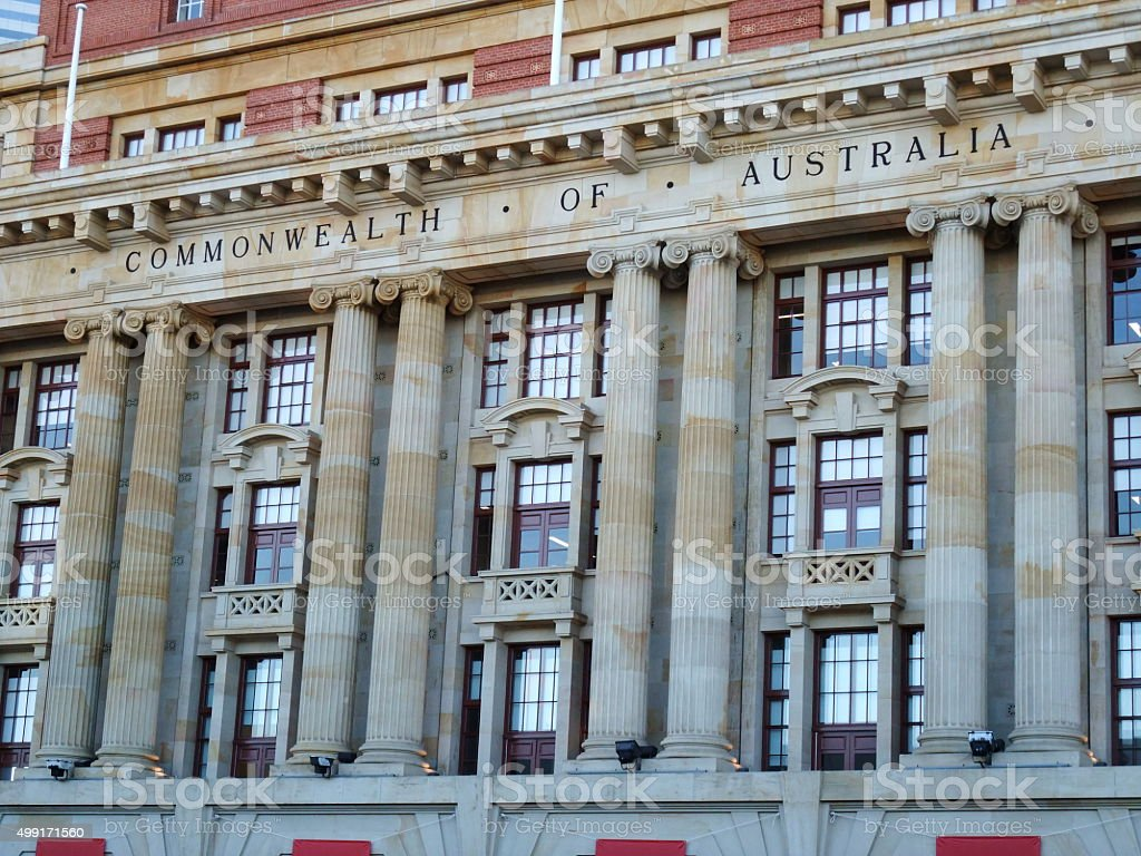 General post office in Perth of Western Australia stock photo