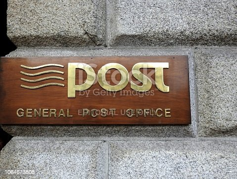 istock General Post Office sign 1064673808