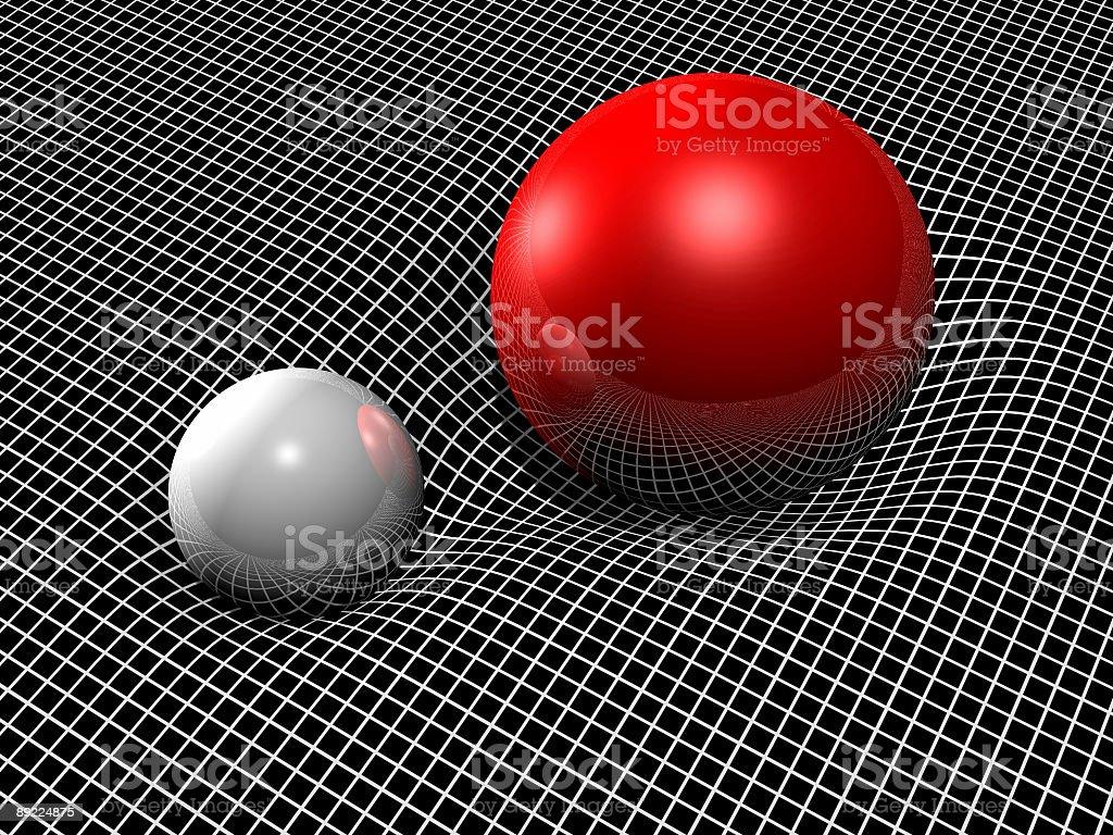 General Relativity Grid Rendering stock photo