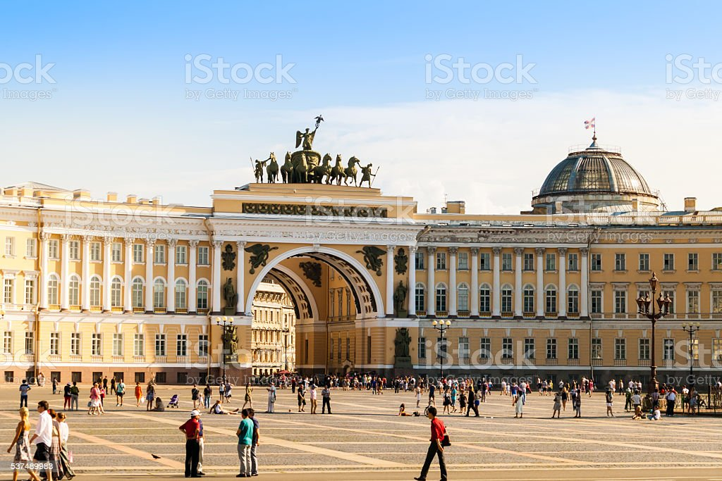 general staff building, Saint-Petersburg stock photo