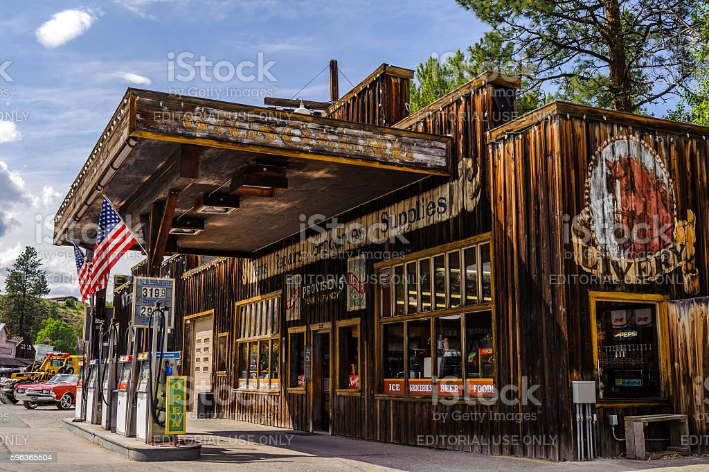 General store and Chevron Gas Station stock photo