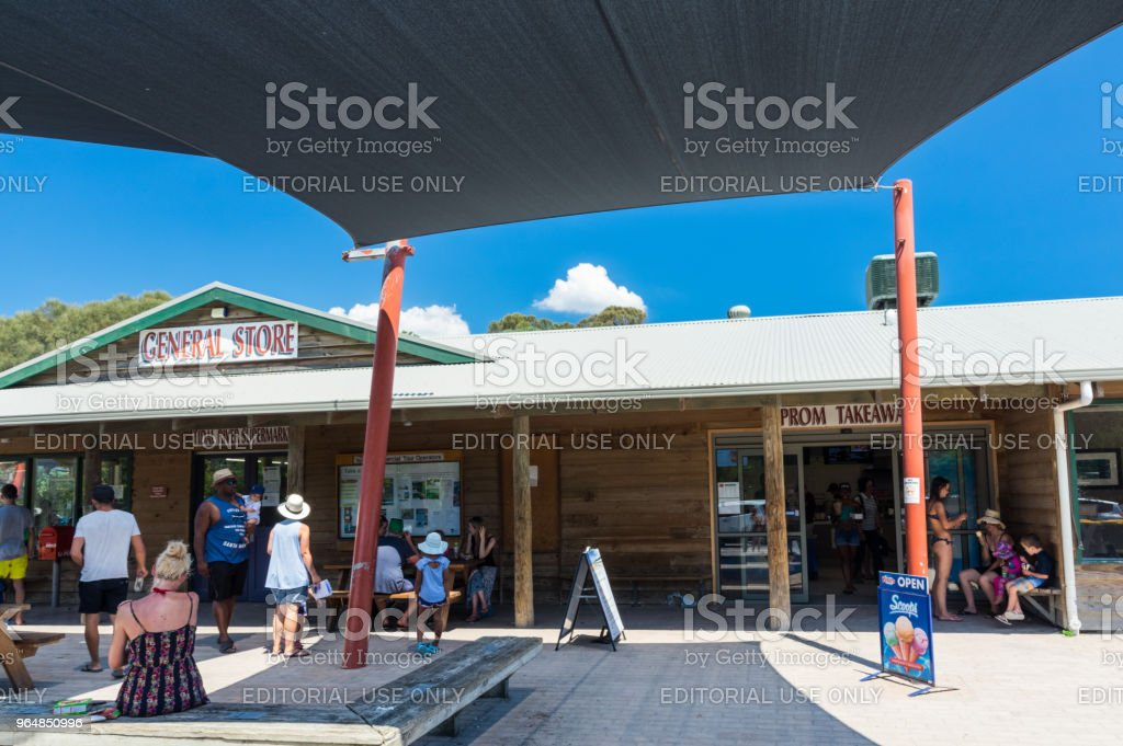 General store and take away shop at Tidal River in Wilsons Promontory National Park. royalty-free stock photo
