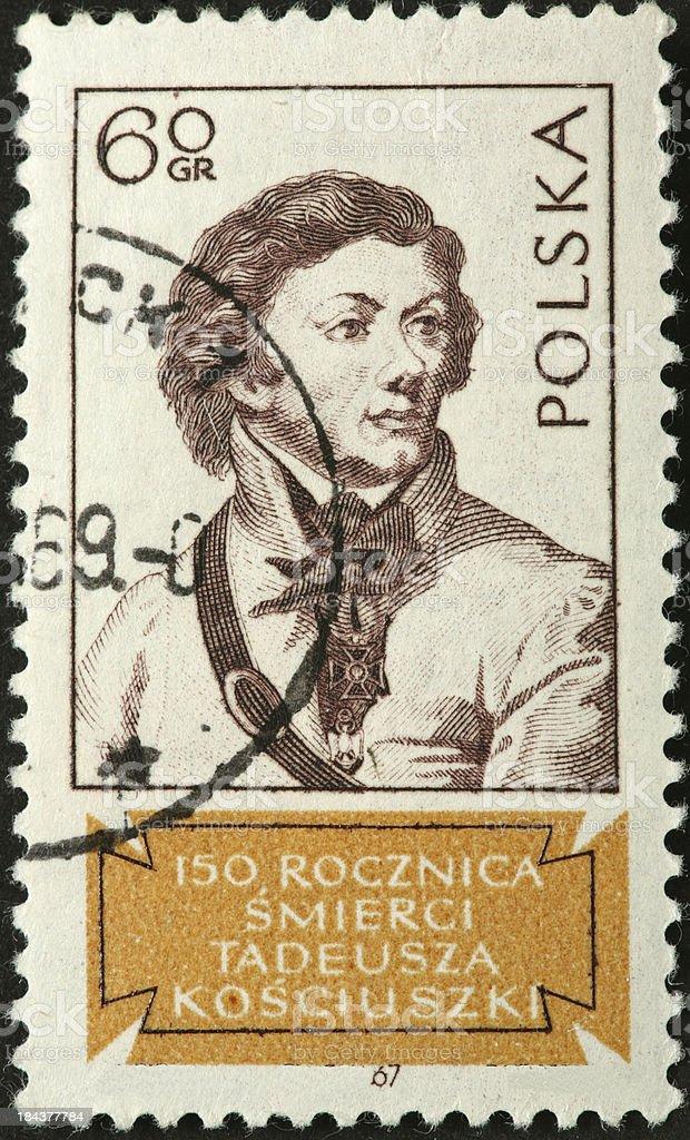 General Tadeusz Kościuszko, 18th century Polish military leader stock photo