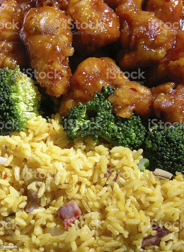 General Tso's chicken royalty-free stock photo