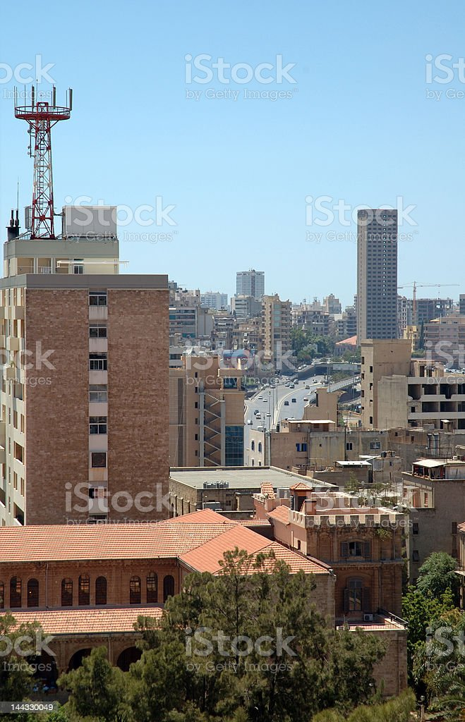 General view, including the Ring, Beirut, Lebanon stock photo