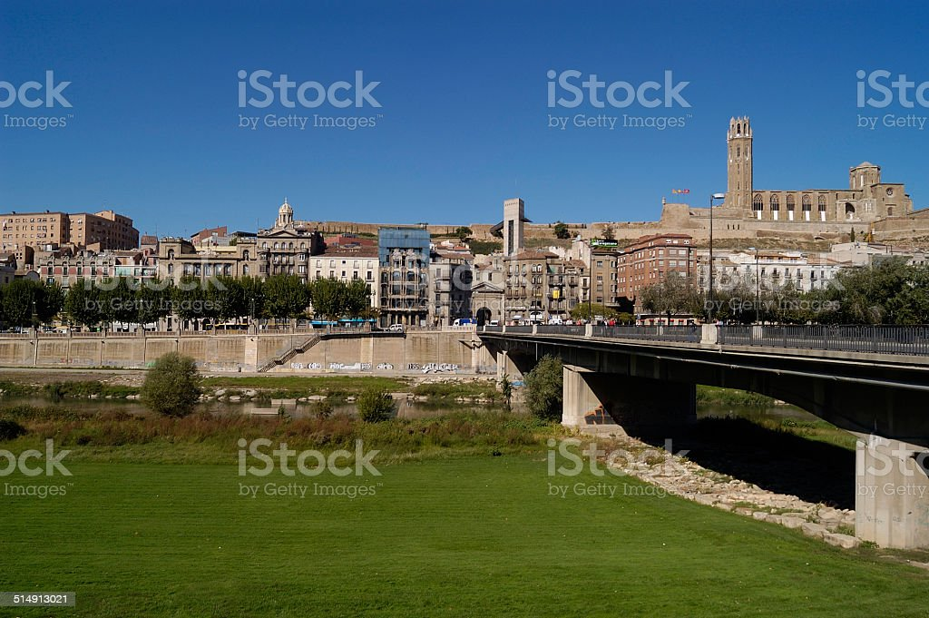 vista general , Lerida, Cataluña, Spain stock photo