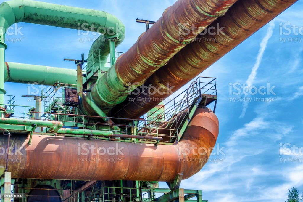 General view of an old industrial plant royalty-free stock photo