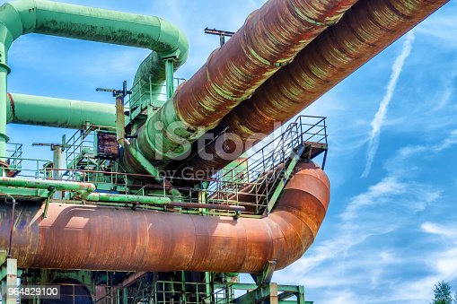 General View Of An Old Industrial Plant Stock Photo & More Pictures of Air Pollution