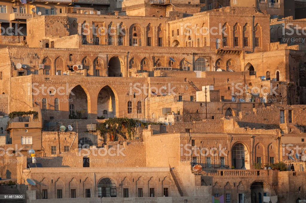 General View Of Old Town Of Mardin, Turkey stock photo