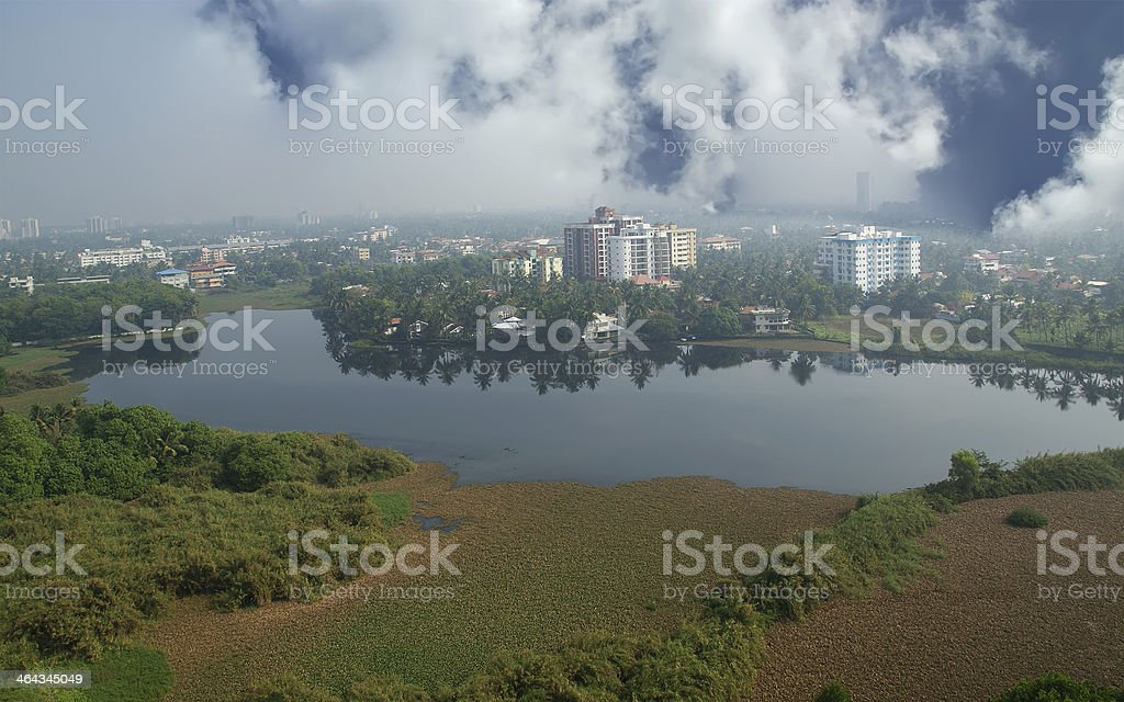 General view of the city, Cochin (kochi), Kerala, South India stock photo