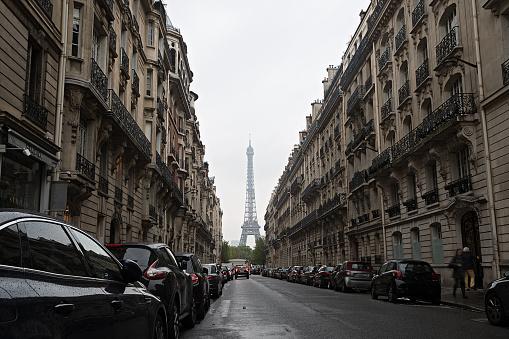 Tourist destination Eiffel Tower in Paris, France