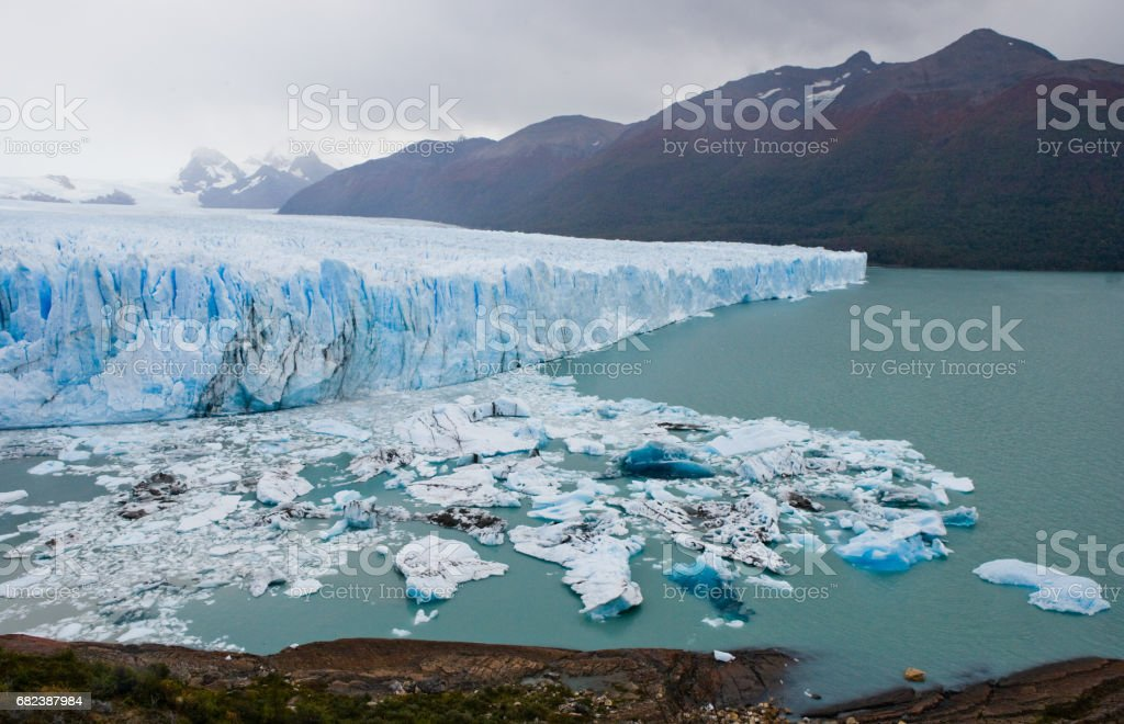 General view of the Perito Moreno Glacier. photo libre de droits