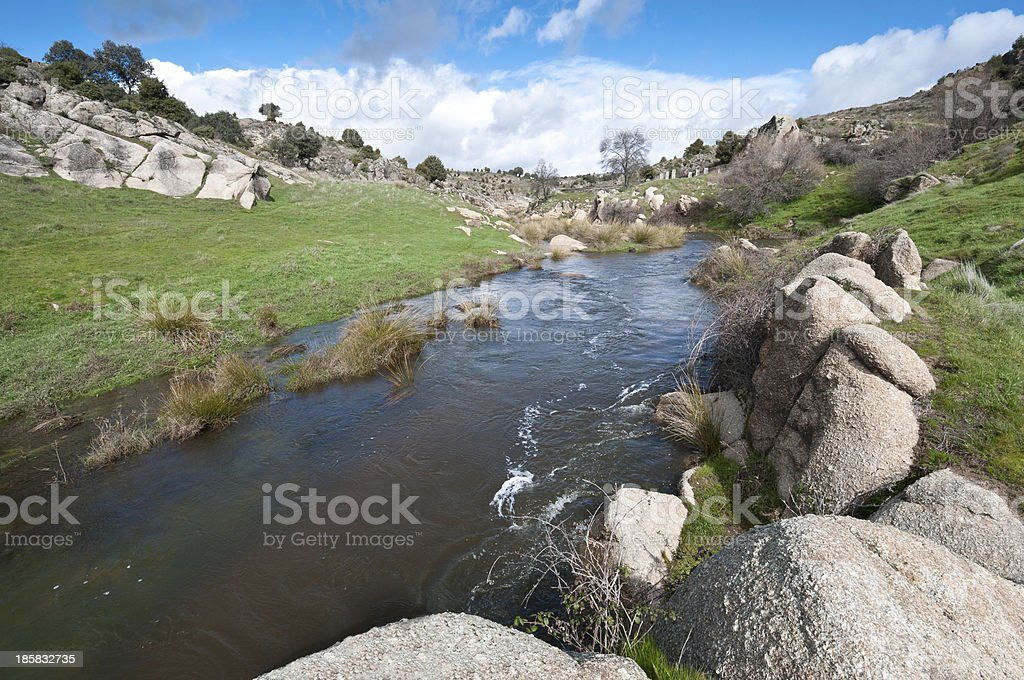 General view of the river Manzanares stock photo